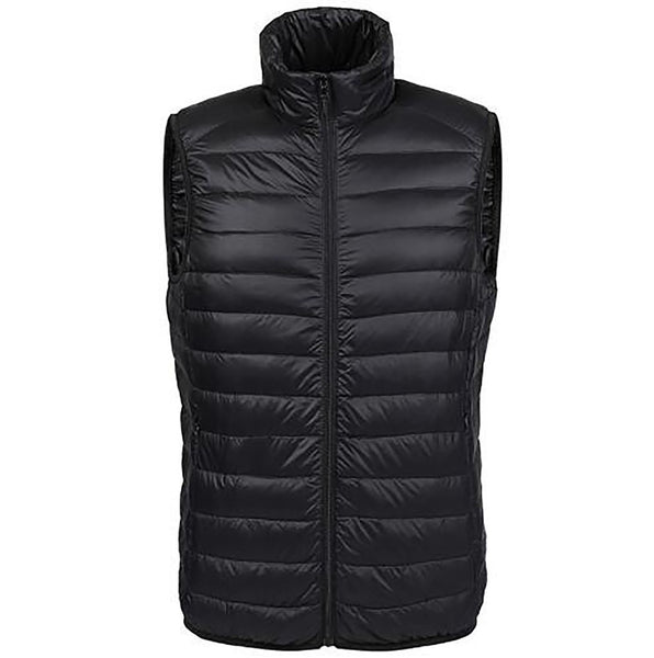 Winter Duck down Vest Men Ultra Light 90% Duck Down Vest Loose Waistcoat Sleeveless Jacket Autumn Black Gray Navy AKITSUMA