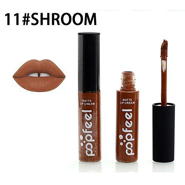 12 Colors Tint Liquid Lipstick Matte Lip Gloss Red Velvet Waterproof Long Lasting Lipgloss Sexy Tattoo Makeup Brand