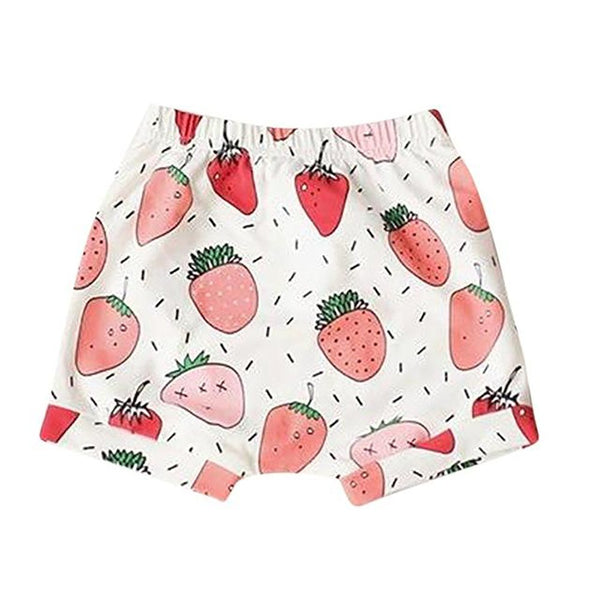 Unisex Baby's Shorts Cotton Fruit Animal Pattern Stripe Harem Beach Summer