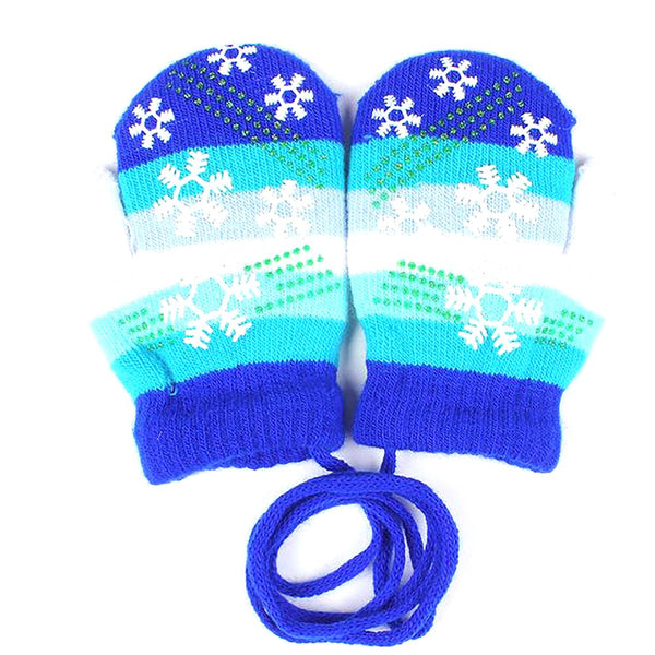 Unisex Children's Gloves Warm Autumn Winter Soft Mittens Snowflake Stripe