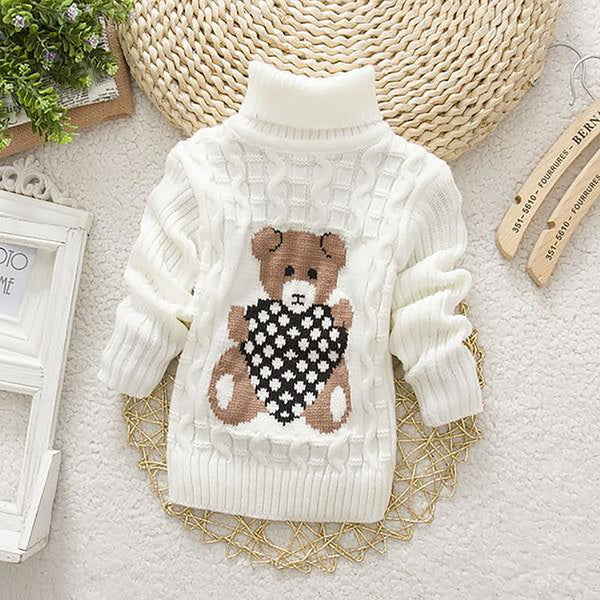 Unisex Baby's Turtleneck Sweater Autumn Winter Cartoon Design
