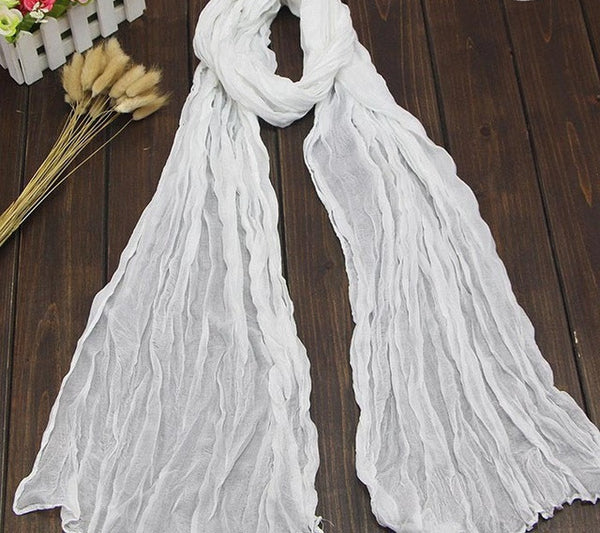 Women's Scarf Vintage Solid Color Plain