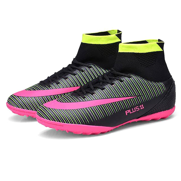 New Adults Men's Outdoor Soccer Cleats Shoes High-top TF/FG Football Boots Training Sports Sneakers
