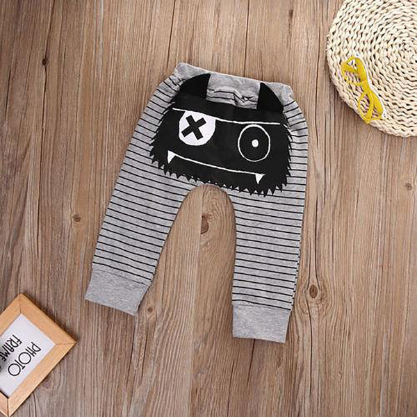 Casual Toddler Bottoms Pants Hot Infant Cartoon Harem Baby Boy Animal Trousers