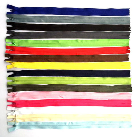 8pcs 3# 28cm 35cm 40cm 50cm 55cm 60cm Long Invisible Zippers DIY Nylon Coil Zipper For Sewing Clothes Cushion Pillow Tailor Tool