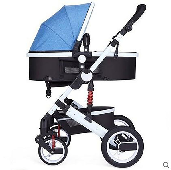 Zhilemei Stroller High Landscape Can Sit Or Lie Shock Winter Children Baby Two-way Deck Trolleyfree Delivery