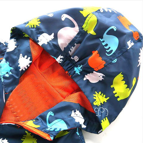 Cute Dinosaur Spring Kids Jacket Baby Boys Outerwear CoatsLong Sleeve Toddler Boys Jacket Coat