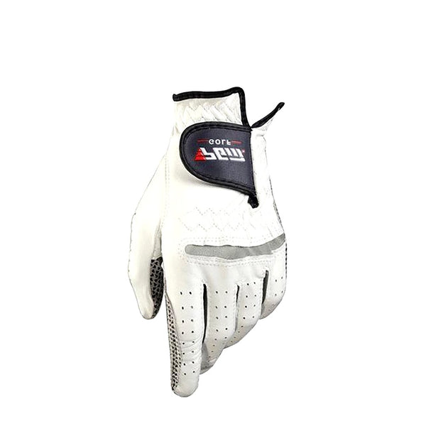 Men's Genuine Leather Golf Gloves Left Right Hand Soft Breathable Pure Sheepskin With Anti-slip Granules Protective