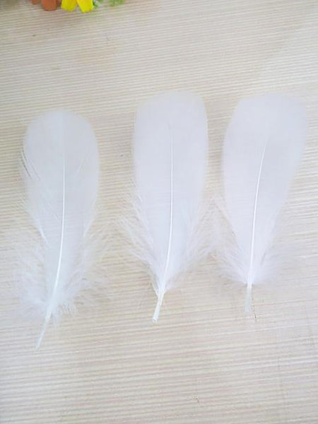 Natural Goose Feathers 5-7 inches for Jewerly Decoration 20pcs/set