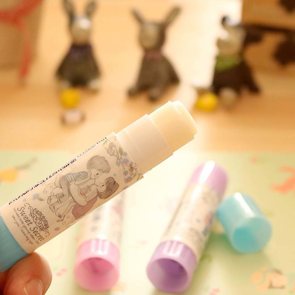 DIY Kawaii Plastic Glue Stick Sweet Secret Art Painting Supplies ...