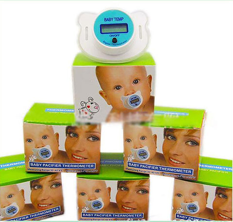 Hot-selling Portable Practical Baby Kid LCD Digital Mouth Nipple Pacifier Thermometer Temperature