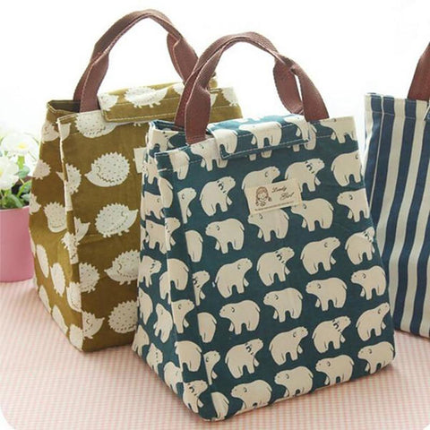 Unisex All Ages Lunch Bag Waterproof Cooler Canvas Insulation Portable