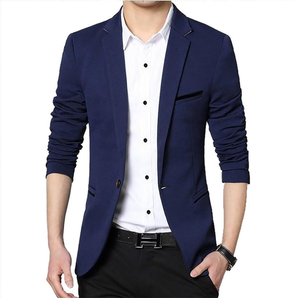 M-5XL Mens Blazer Jacket 2017 Spring Coats Autumn Costume Male Fashion Leisure Suits Business Men Suit Formal Plus Size