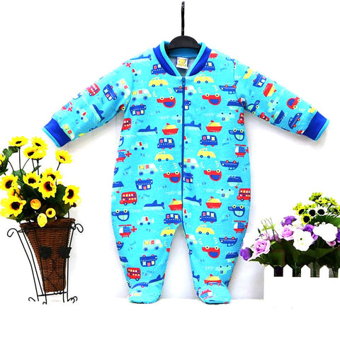 Unisex Baby's Jumpsuit Pure Cotton Spring Long Sleeve Zipper