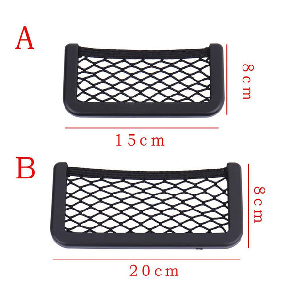 Universal Car Net Storage Attachment 20x8 cm 8x15cm Pocket Organizer Mobile Accesories Holder