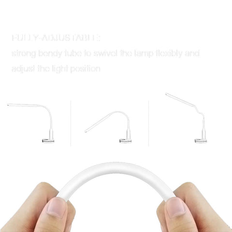 5W 24 LEDs Eye Protect Clamp Clip Light Table Lamp Stepless Dimmable Bendable USB Powered Touch Sensor Control
