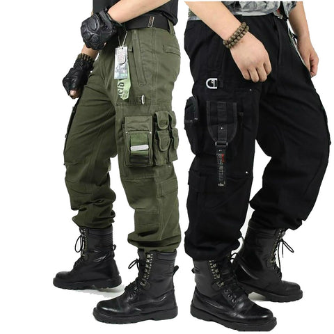 CARGO PANTS Overalls Men's Millitary Clothing TACTICAL MILITARY Knee Pad Male US Combat Camouflage Army Style Camo Trouser