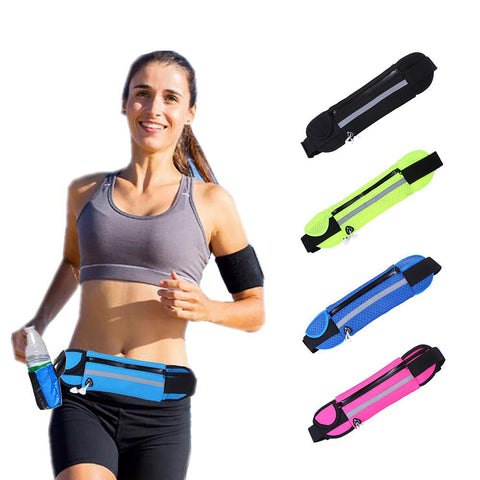 Waist Sports Bag for Running Music Water with Headset Hole Fits Smartphones