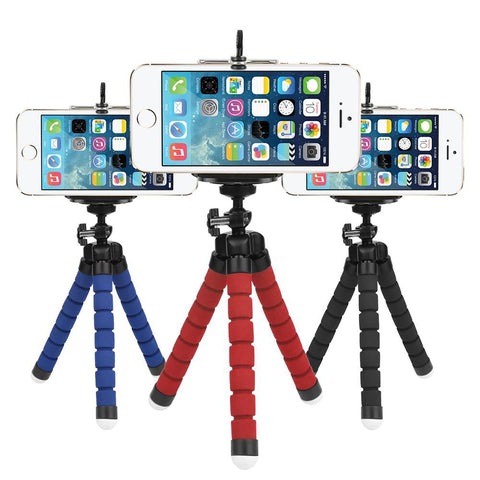 Mini Octopus Tripod for Iphone Samsung Xiaomi Huaweii Mobile Phone Smartphone Gopro Camera DSLR Mount Flexible Sponge