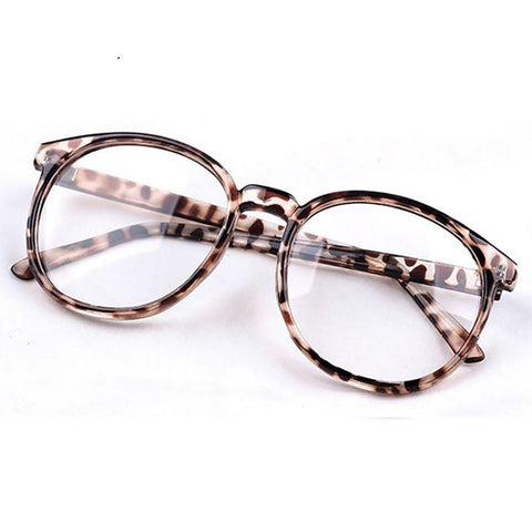 Women's Eyeglasses Frame Vintage Light Round Optical with Clear Lenses