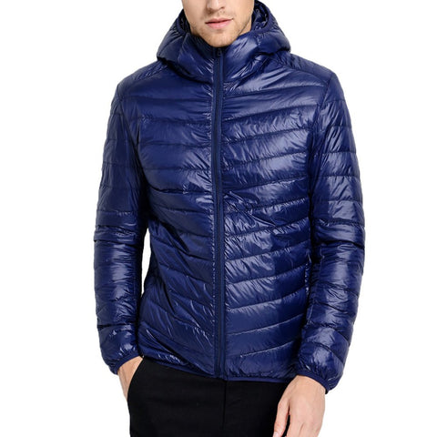 2017 New Casual Brand White Duck Down Jacket Men Autumn Winter Warm Coat Men's Ultralight Male Windproof Parka