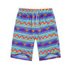 Unisex Adult's Shorts Elastic Waist Casual Style Polyester Swim Summer Beach
