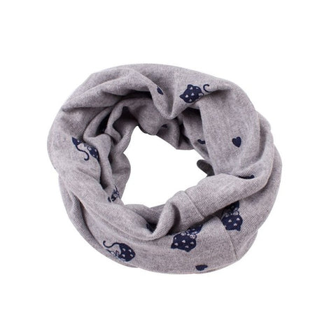 Unisex Children's Scarf Autumn Winter O Ring Printed Collars