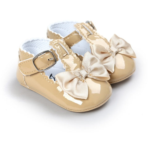 Newborn Baby Girl Bow Anti-slip Crib Girls Shoes Soft Sole Sneakers Prewalker 0-18M