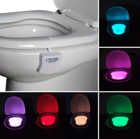 2017 New LED Toilet Light Motion Activated Sensor Light Sensitive Battery-operated 3D Lamp Bathroom Accessories