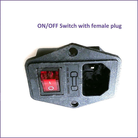 ON/OFF Switch Socket with Female Plug for Power Supply Cord Jamma Arcade Machine IO Fuse