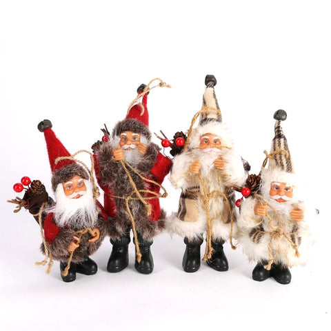 Christmas Santa Claus Doll Toy Tree Ornaments Decoration Exquisite For Home Xmas Happy New Year Gift