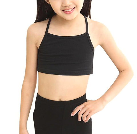 Young Girl's Training Bras Camisoles Solid Breathable Soft Underwear