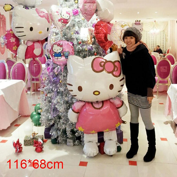 116*68cm Hello Kitty Balloons HelloKitty Foil Balloons for Christmas Birthday Wedding Party Decoration Inflatable Air