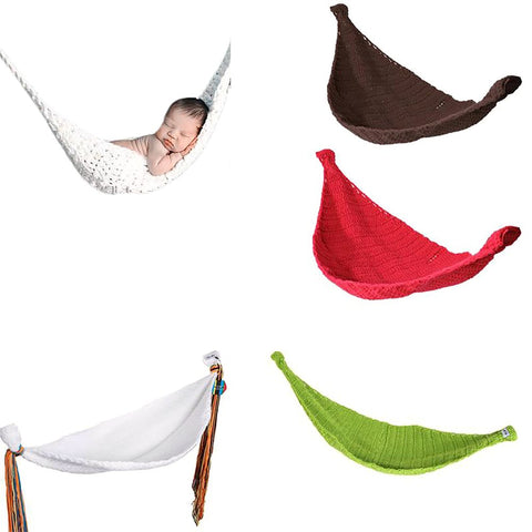 2017 New Crochet Baby Hammock Photography Props Knitted Newborn Infant Costume Toddler Berco Do Bebe Cradle Dropshipping