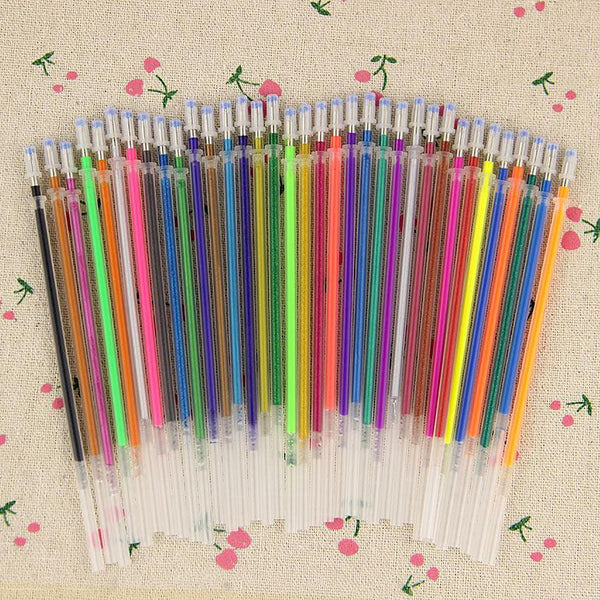 36PCS/set Flash Gel Pen Refill Color Full Shinning For The Child'S Drawing Office Stationery 36 Colors
