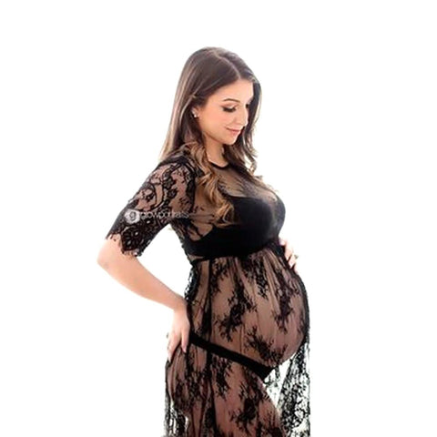 Le Couple Pregnant Women Lace Dresses Maternity Photography Fancy Props Photo Shooting Crochet