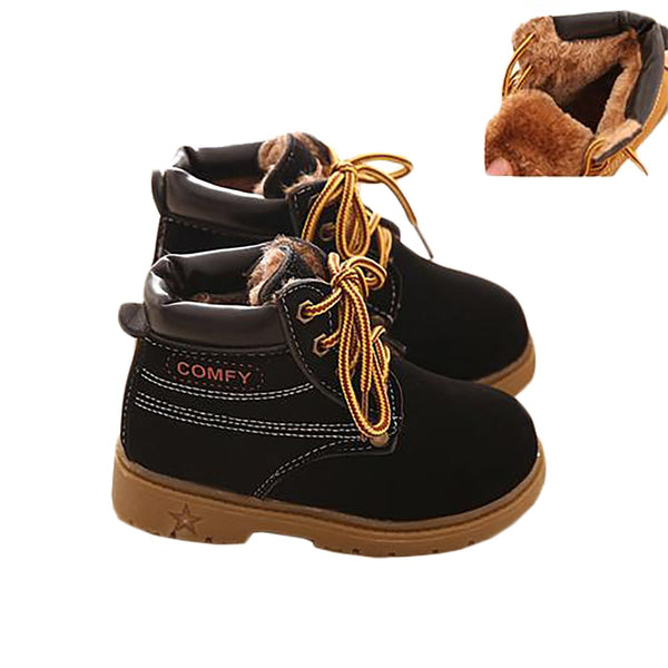 Unisex Baby's Boots Winter Leather Warm Snow