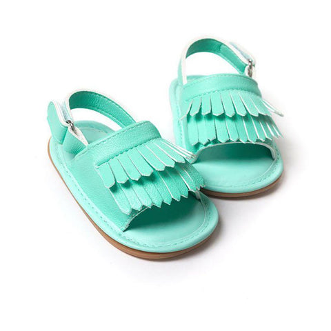 Hot Sale Baby Sandals Summer Leisure Fashion Girls of Children PU Tassel Clogs Shoes 7 Colors L6