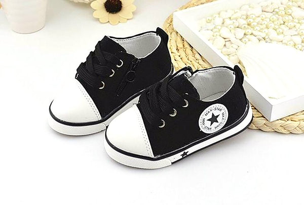 New 2017 Baby Casual Shoes 3 Colors Classic Canvas Fashion Brand Boys Sneakers Lace-up Kids Shoes for Baby Girls