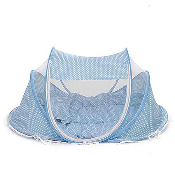 Acitonclub Baby Crib Bed With Pillow Mat Set Portable Foldable Netting Newborn Infant Bedding Sleep Travel