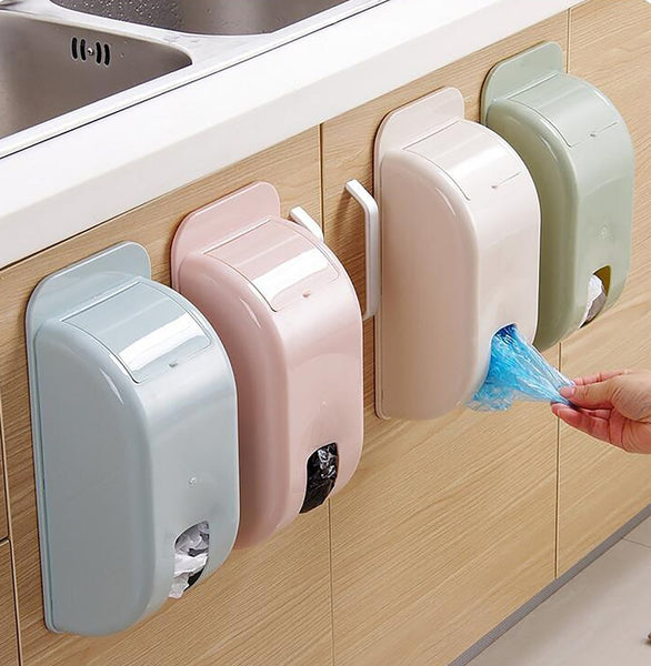 Plastic Storage Box Kitchen Garbage Bag Hanging from Debris Plastic Random Color S002