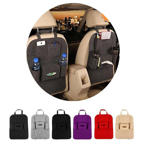 Auto Car Back Seat Storage Bag Cover Organizer Holder Bottle Tissue Box Magazine Cup Food Phone Bag Backseat