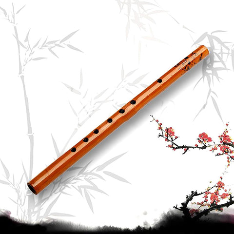 Traditional 6 Hole Bamboo Flute Clarinet Student Musical Instrument Wood