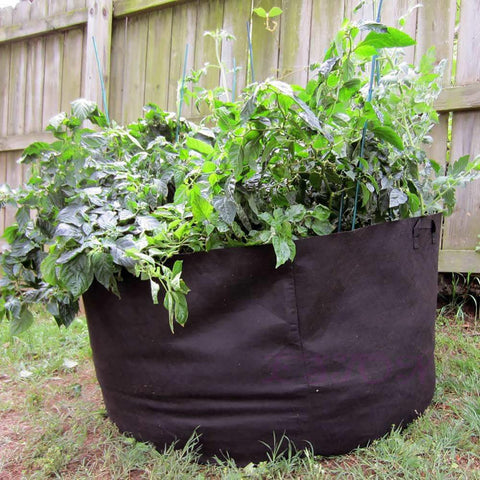 Plant/Vegetable Grow Bag Fabric Round Aeration