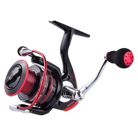 KastKing Sharky II New Water Resistant Carbon Drag Spinning Reel with Larger Spool 19KG Max Sea Boat Fishing