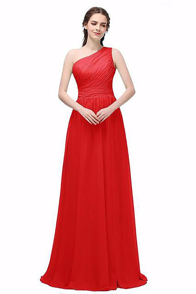 Women's Long Dress Under 50 Floor Length Chiffon A-line for Bridesmaid