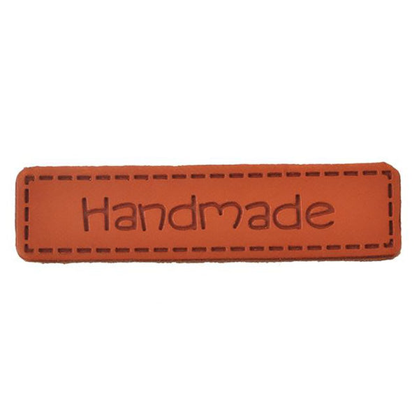 Hoomall 10PCs Hand Made Labels PU Leather Tags On Clothes Garment For Jeans Bags Shoes Sewing Accessories