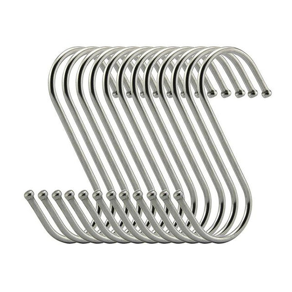 S Shaped Steel Round Hooks 10 pcs/set House Hanging Storage Tools