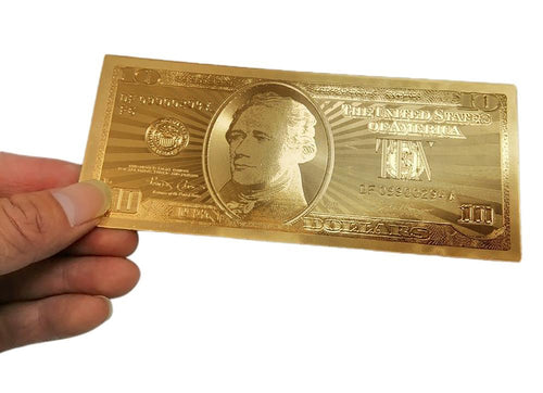 Fake Money Golden Banknotes USA Foil Bills World Paper Collections Home  Decor