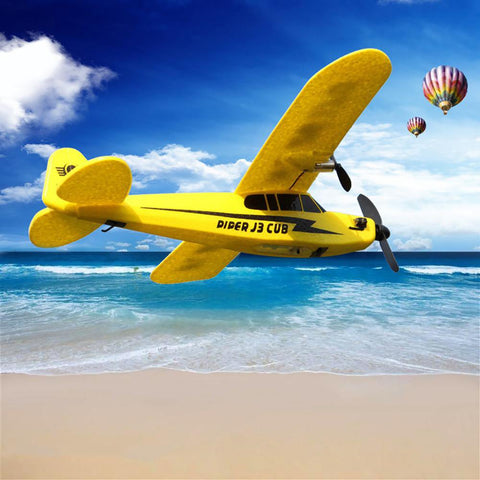 RC Plane 150m Distance Toys For Kids Children Gift TRCElectric 2 CH Foam Outdoor Remote Control